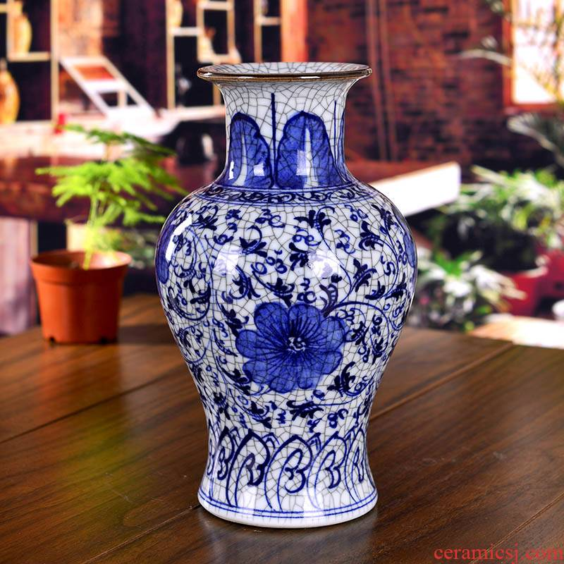 Hand draw archaize of blue and white porcelain up jingdezhen ceramics slicing crafts vase household act the role ofing is tasted, the living room
