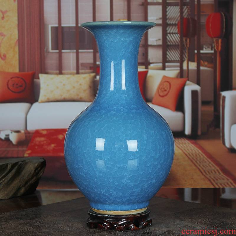 Open the slice archaize of jingdezhen ceramics up bice porcelain vase sitting room place gifts I household arts and crafts