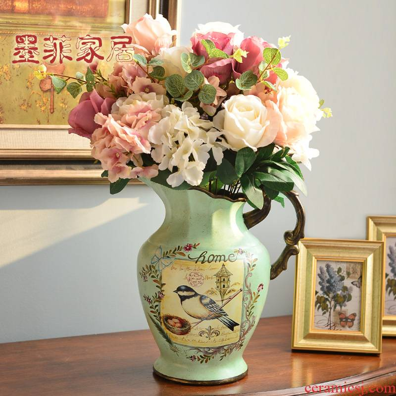 European table decorations household act the role ofing is tasted creative American ceramic vase restoring ancient ways is the sitting room TV ark, soft adornment ornament