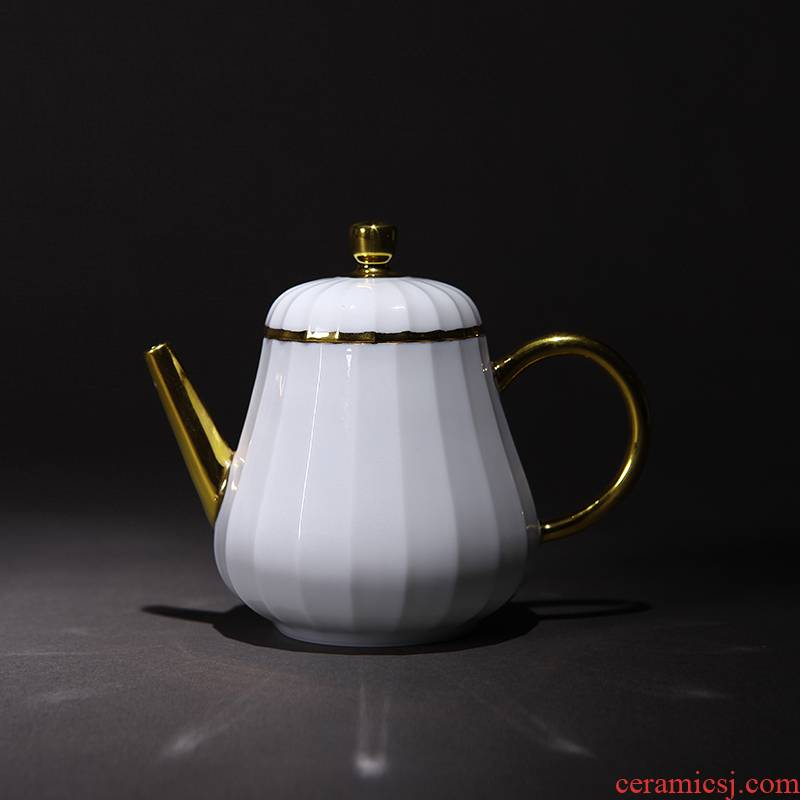 Red xin all manual its Vincent the muzzle pot hand set Jin Gongfu teapot CiHu pore water on the ball