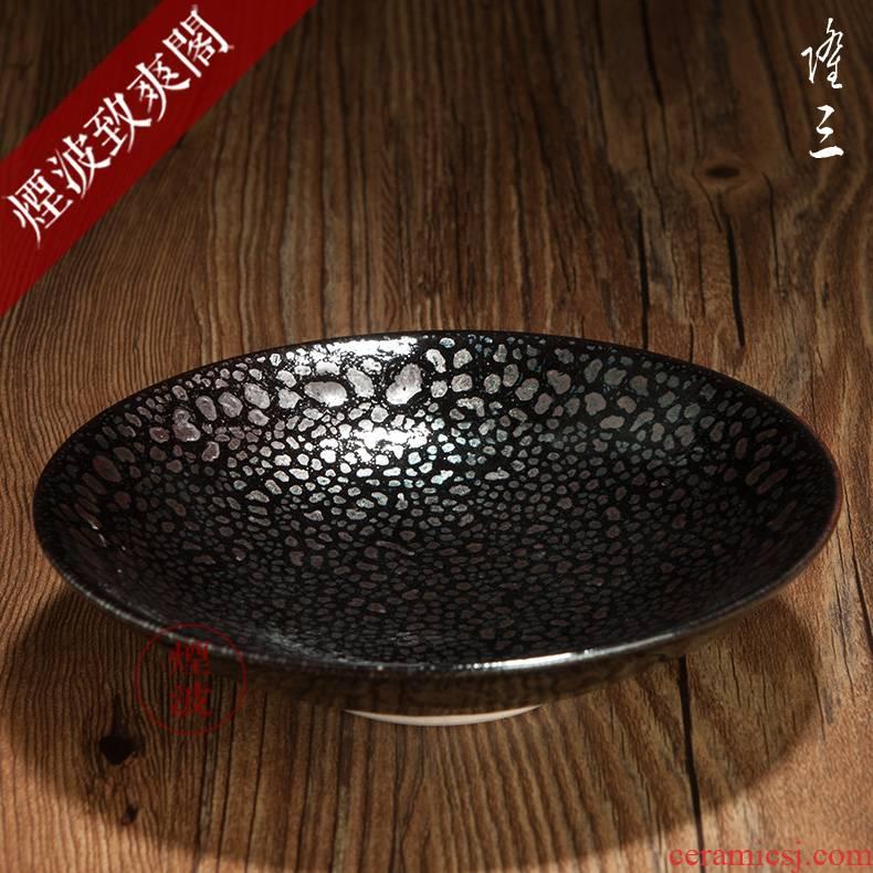 Long made those Japanese pottery as temmoku bowl built light tea light cup - 4 C
