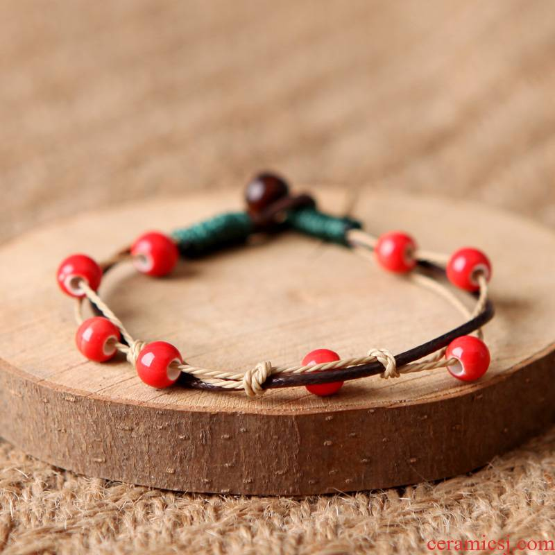 QingGe ceramic bracelet with small pure and fresh and manual DIY hand act the role of female has small adorn article what you sen market. I source