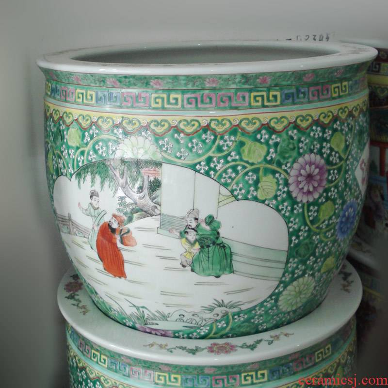 Jingdezhen hand - made pastel antique ancient porcelain cylinder cylinder Jingdezhen porcelain enamel chains