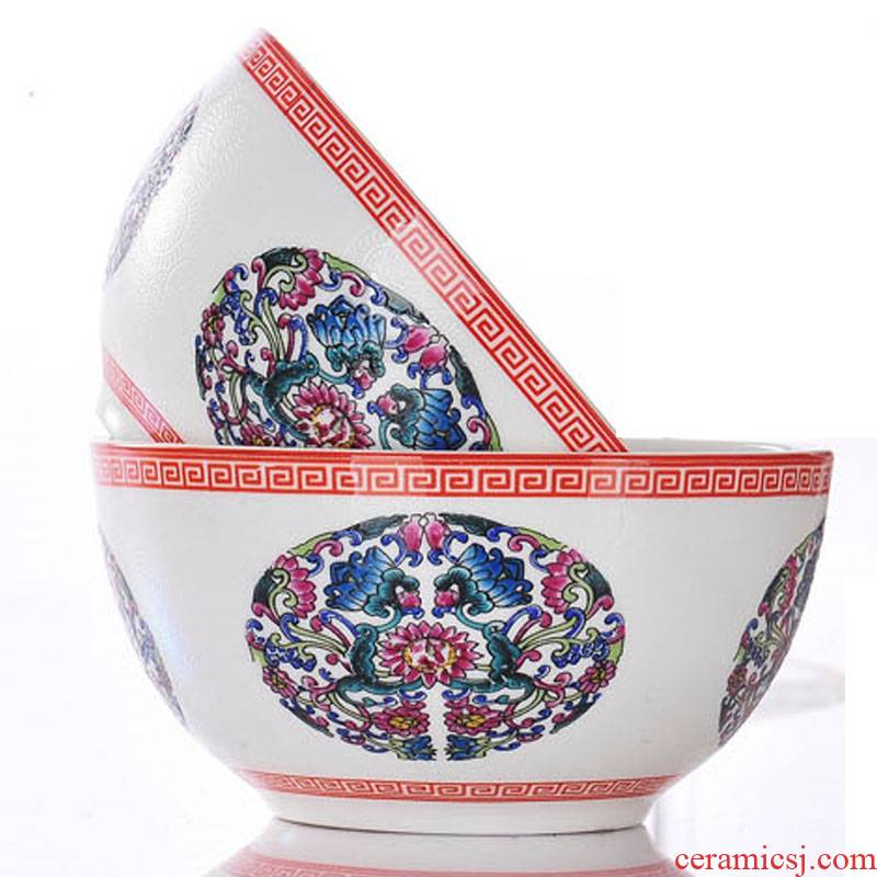Red xin jingdezhen characteristics tableware bowls bowl ipads small bowl of rice bowls one bowl of flowers colored enamel