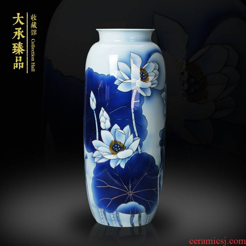 High - grade hand - made works of traditional Chinese style the see colour blue and white porcelain vase study was sitting room adornment handicraft furnishing articles