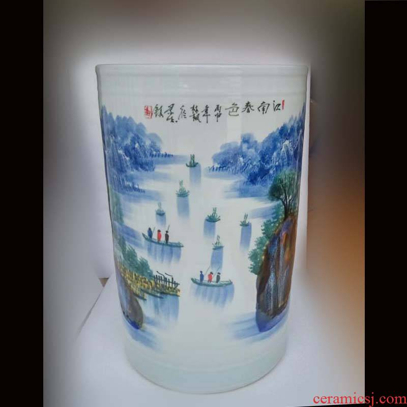 High - grade porcelain art painting and calligraphy quiver High culture quiver and calligraphy quiver variable market umbrella tube quiver