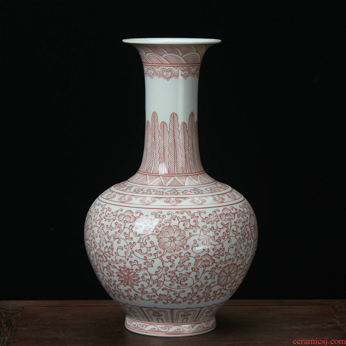 Jingdezhen ceramic vases, antique hand - made the design youligong tangled branches in the Ming and the qing dynasties classical household handicraft furnishing articles