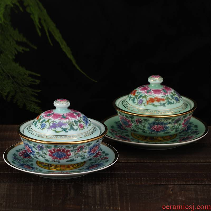 Hong xin celadon hotel cup series crock soup cup steamed egg cup Buddha to over the wall + 7 inches of peony