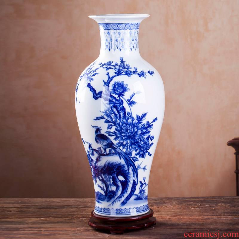 Antique Chinese blue and white porcelain is jingdezhen ceramics vase flower arranging furnishing articles home TV ark, adornment the living room