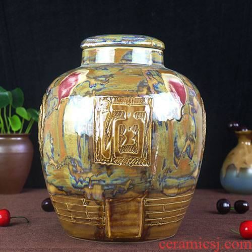 (/50 kg of jingdezhen ceramic bottle wine jar it hip mercifully jars variable glaze its