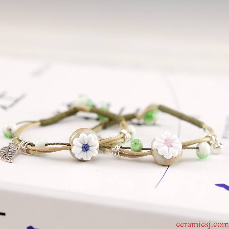 QingGe manual the original jingdezhen ceramic first act the role ofing is tasted move hand pinch flower bracelet to restore ancient ways small kiss women