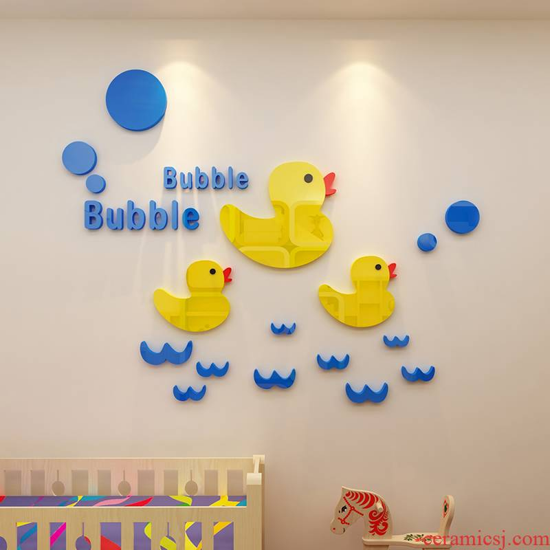 Cartoon children room bathroom tile bathroom toilet natatorium decoration 3 d waterproof wall stickers, stickers