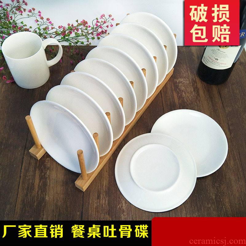 Ipads plate plate household ceramic table 10 garbage plates 7 bones episode of vomit ipads plate small dish plates 6 inches