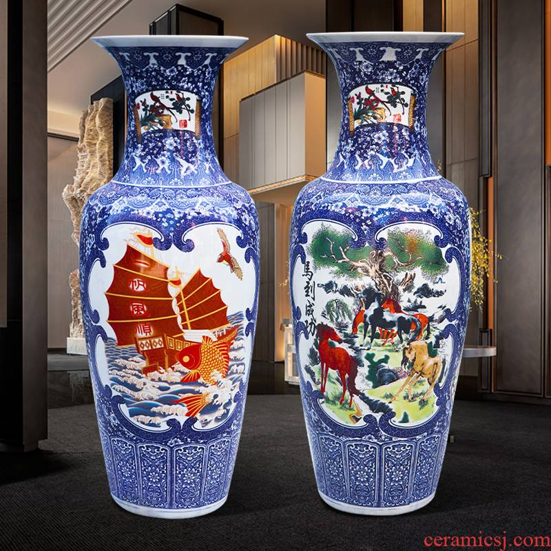 Jingdezhen ceramics vase of large sitting room porch furnishing articles contracted style restoring ancient ways home decoration flower arrangement