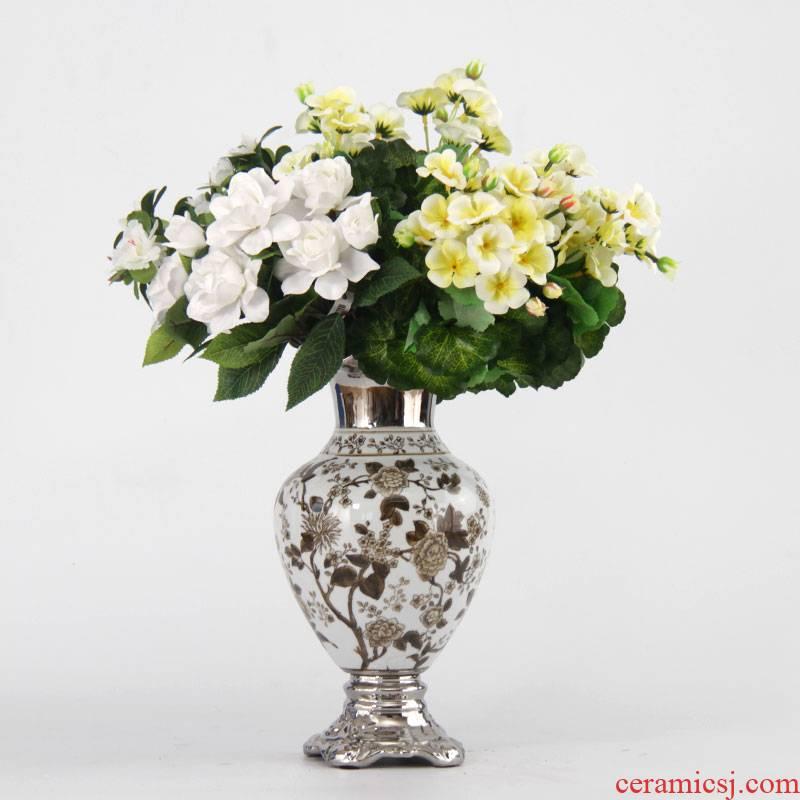 Jingdezhen ceramic vase continental creative home sitting room vase light vase key-2 luxury furnishing articles ornaments