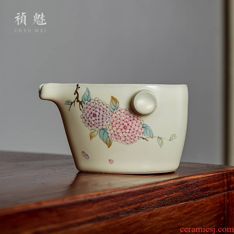 Shot incarnate your up hand - made hydrangea jingdezhen ceramic fair keller kung fu tea tea accessories hot tea sea points