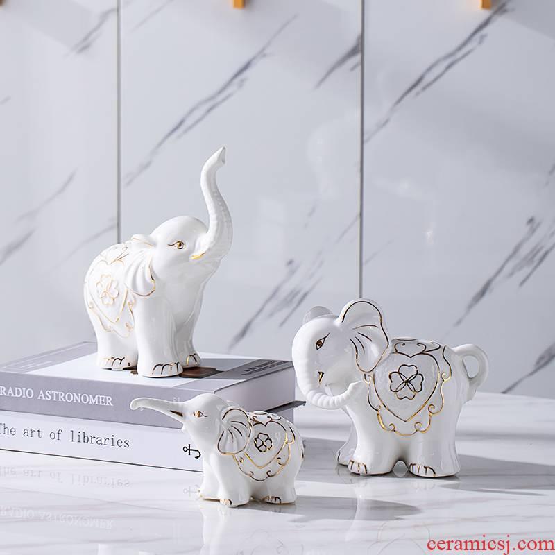 The Elephant furnishing articles home decoration TV ark, porch ark, ceramics handicraft gift wedding present practical girlfriends