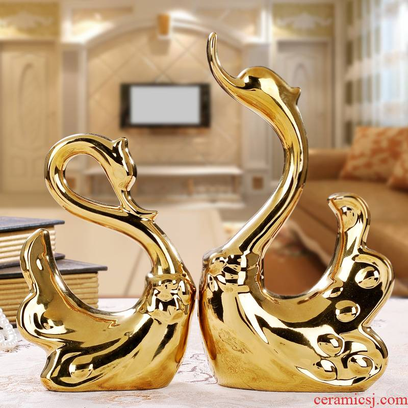 I and contracted home wine ark, adornment furnishing articles ceramics, the sitting room TV ark, handicraft lovers swan