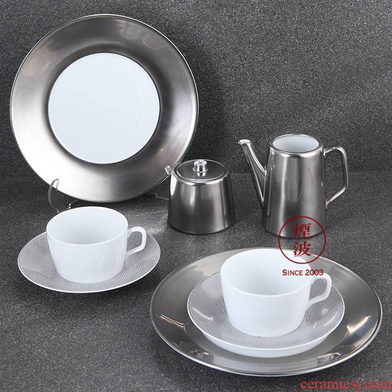 German mason mason meisen porcelain grid platinum orchid tea cups of coffee cups and saucers afternoon tea set