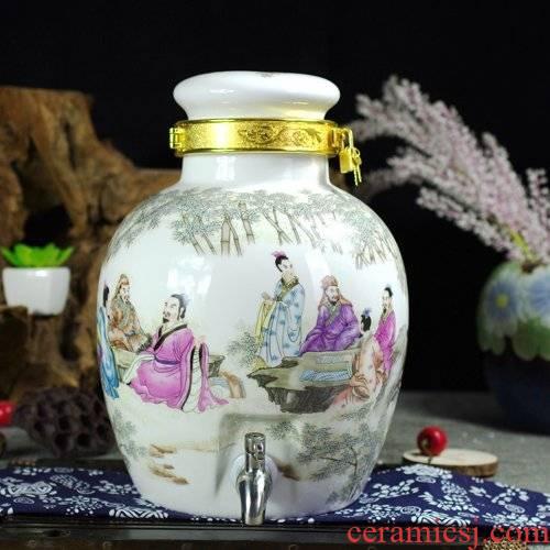 20 jins 30 jins 10 jins of jingdezhen ceramic jar it hip jugs to lock mercifully jars