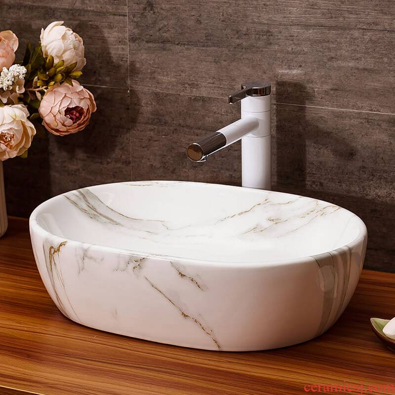 Art on the stage basin to the balcony for wash gargle with water drainage contracted hotel ceramic lavabo suits for toilet basin
