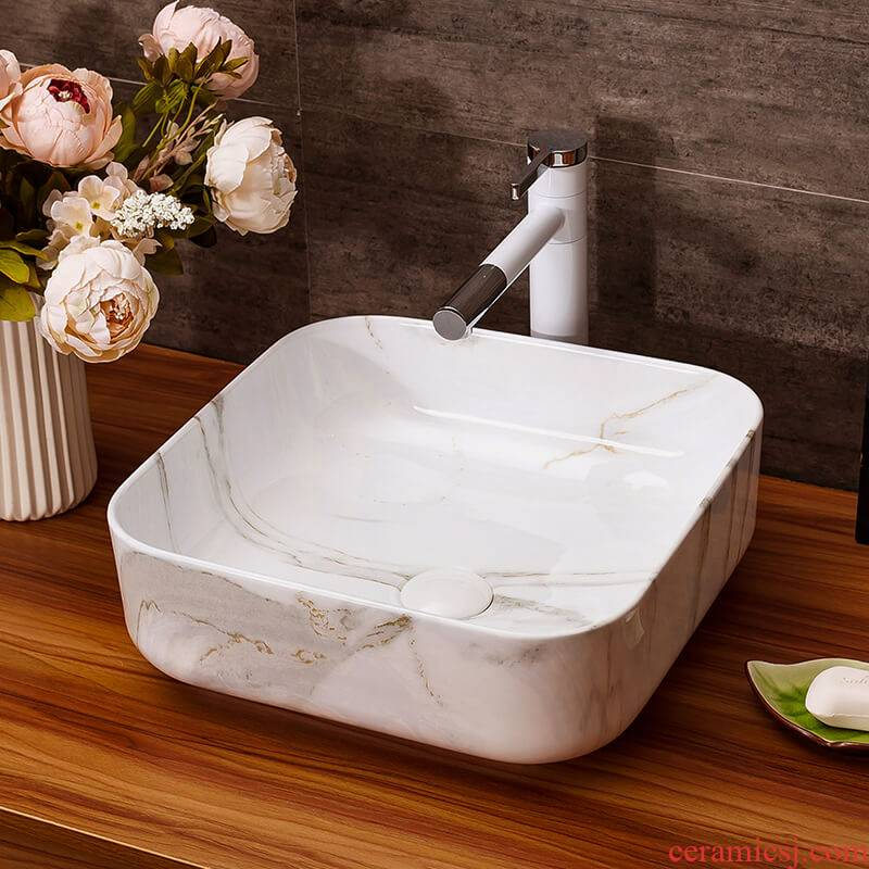 The stage basin sink bathroom home for wash gargle suit ceramic art basin faucet lavatory basin of hotel