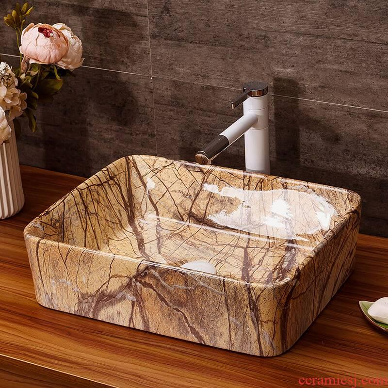 Art stage basin of household toilet lavabo multi - purpose washing basin bathroom ceramic lavabo hotel
