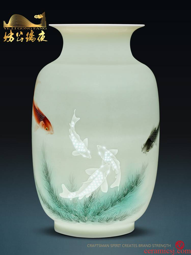 Jingdezhen ceramics furnishing articles every year more than lucky bamboo vase household of Chinese style flower arrangement sitting room adornment ornament
