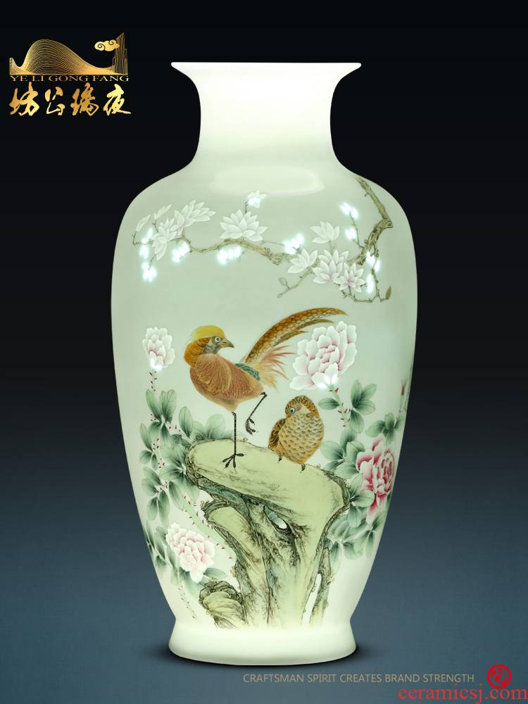 Jingdezhen ceramics furnishing articles hand - made the icing on the cake, vases, dried flower arranging flowers sitting room of Chinese style household decorations