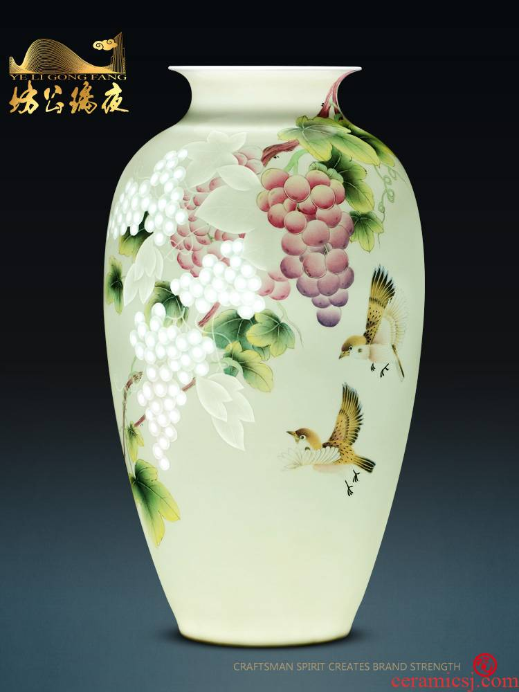 Jingdezhen ceramics furnishing articles fruits hand - made vases, flower arranging dried flower adornment household table decoration