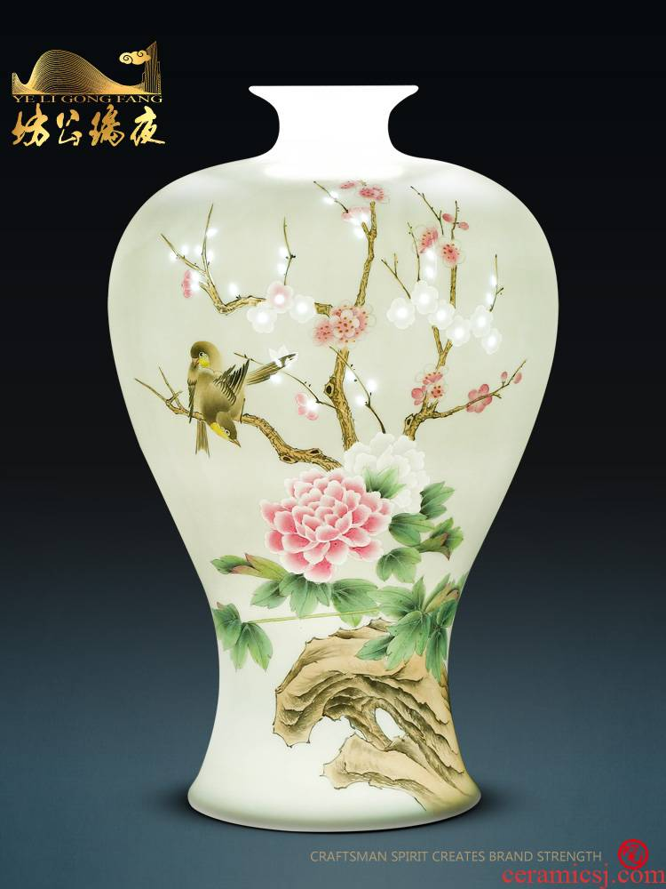 Jingdezhen ceramics furnishing articles hand - made ChunManQianKun vases, sitting room of Chinese style household decorations TV ark, furnishing articles