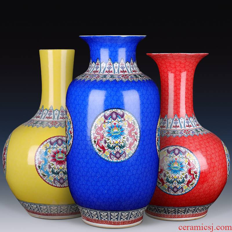 Jingdezhen ceramics new Chinese style of large vases, flower arranging TV ark adornment idea gourd furnishing articles large living room