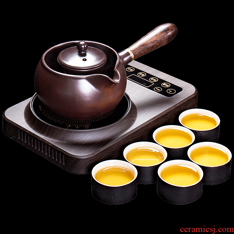 Shadow at electric boiling tea ware suit intelligent electric TaoLu boiling tea stove home multi - function electric furnace ceramic teapot