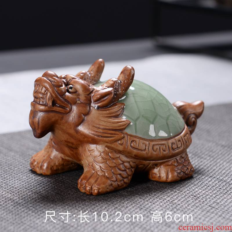 Elder brother up spoil furnishing articles purple dragon turtle tea to raise creative toad tea tea tea tray tea accessories accessories play your up