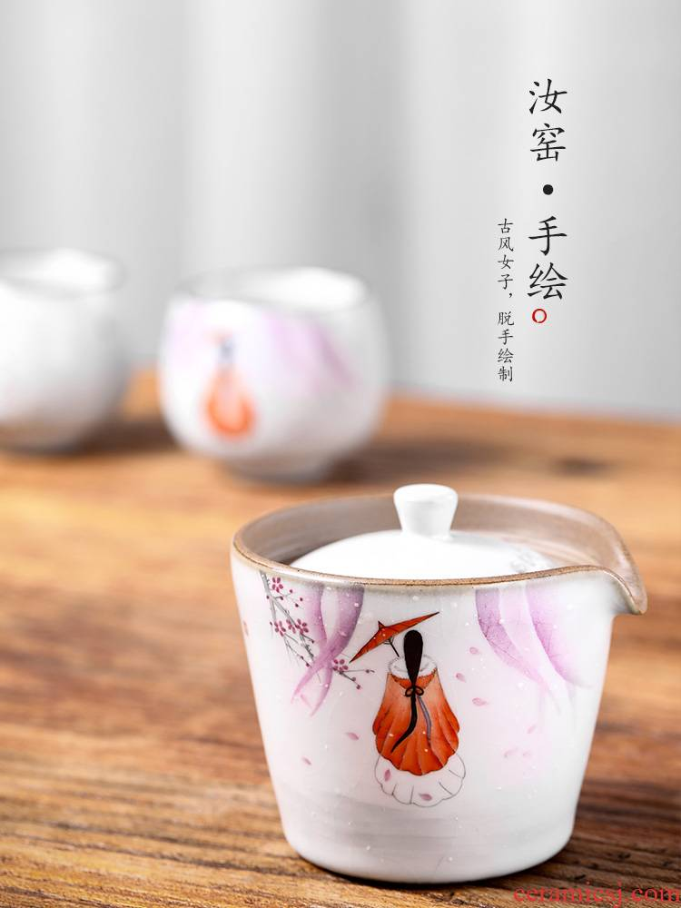 Kombucha tea hand grasp anti hot teapot lid to use pure manual your up hand - made jingdezhen tea large tea cups