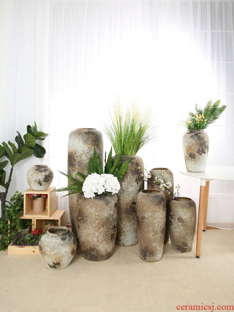 Restore ancient ways do old jingdezhen I and contracted sitting room hotel ceramic vase is suing furnishing articles pottery decoration arranging flowers