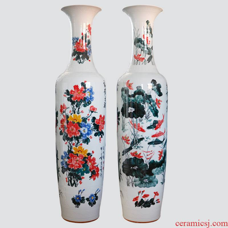 414 jingdezhen ceramic famille rose blooming flowers sitting room of large vase and so on many 1.8 2.2 meters