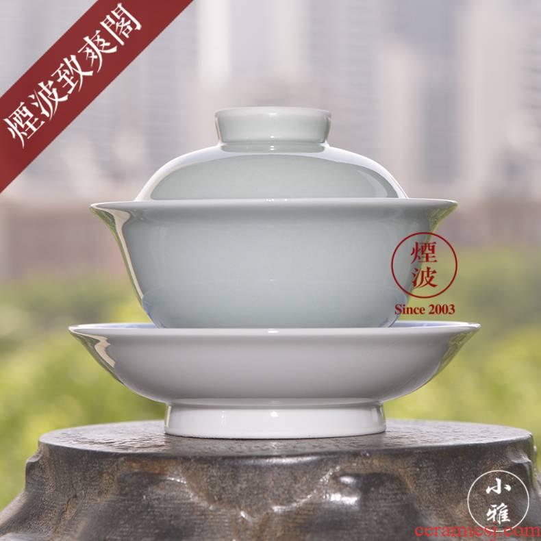 Jingdezhen lesser RuanDingRong made three pea green tureen lesser cup sample tea cup tea cups