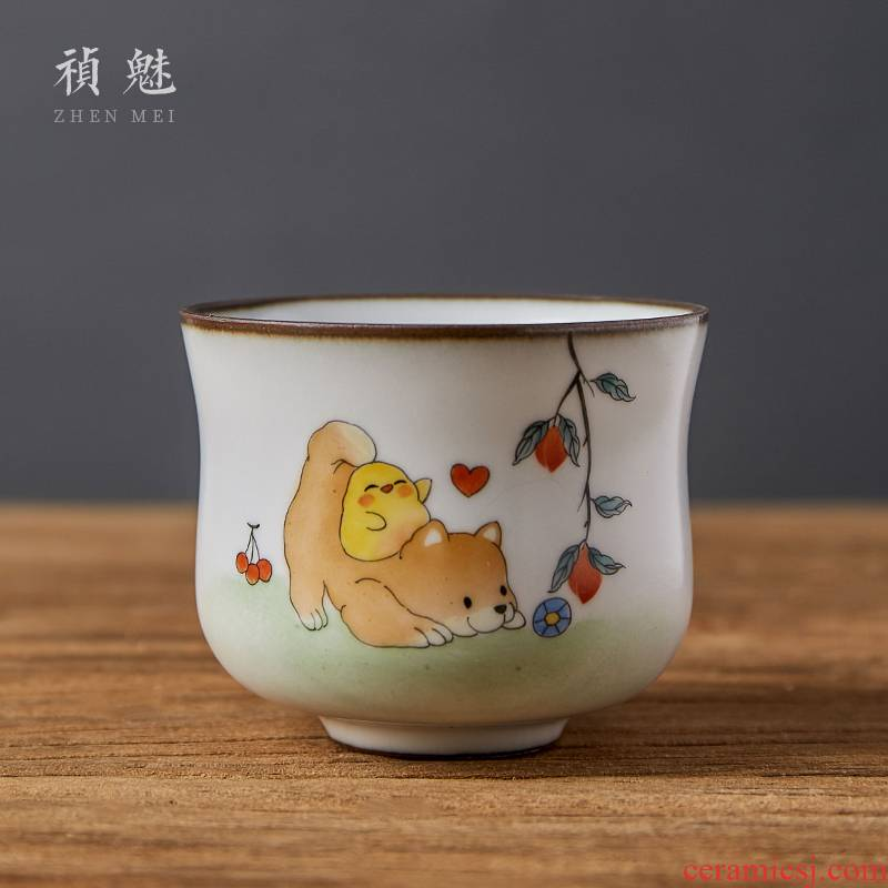 Shot spirit 's hand of spoil your up with jingdezhen ceramic cups the kung fu tea set sample tea cup personal single CPU master CPU