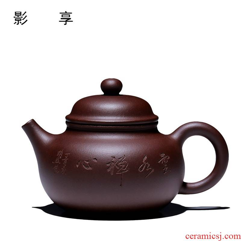 Shadow at yixing undressed ore pure manual it working quality goods famous boutique teapot household kung fu tea set for days