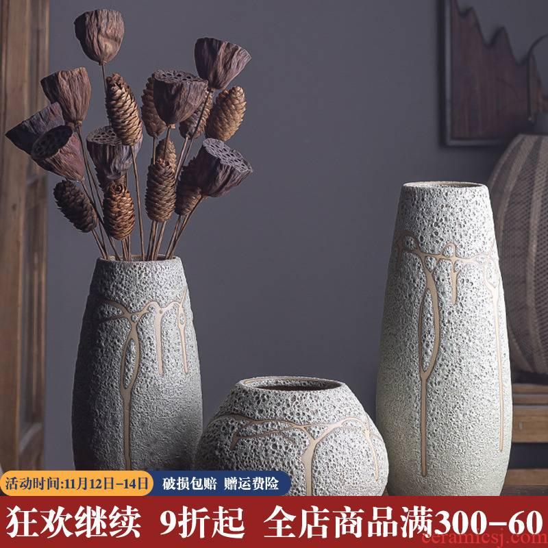 American restaurant sample room soft adornment ceramic flower vases, flower arrangement sitting room porch tea table restoring ancient ways, furnishing articles