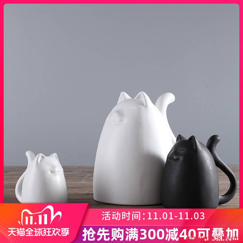 The sitting room TV ark adornment furnishing articles creative household ceramics handicraft 3 home furnishing articles cat