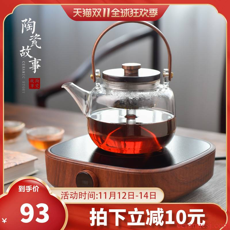 Ceramic story cooking pot glass tea set household spend large capacity high temperature electric teapot TaoLu boil tea
