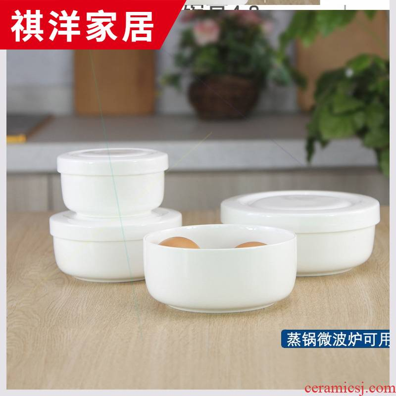 Baby steamed egg bowl of Japanese special microwave ceramic bowl bowl of fresh bowls bowl with tureen steaming bowl of ipads China with cover