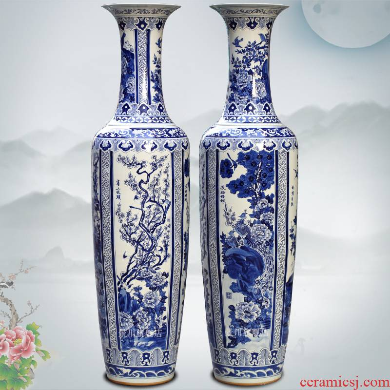 Chicken habitat wutong large vases, jingdezhen ceramics home sitting room adornment opening gifts large furnishing articles