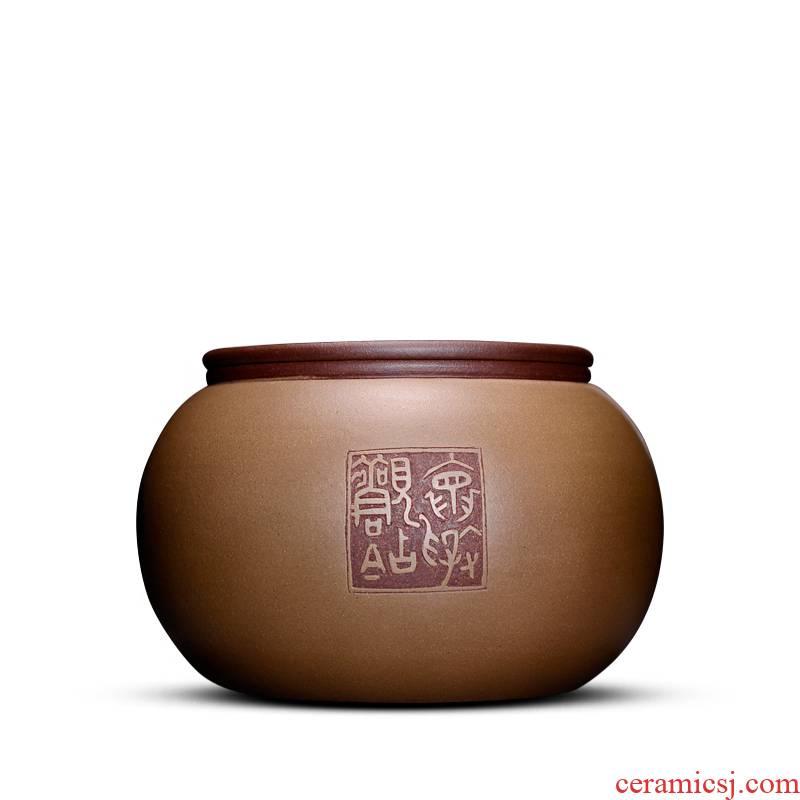 Shadow at yixing purple sand tea pot manual bulk storage tanks tea tuo tea cylinder wake tea sealed as cans of HZ