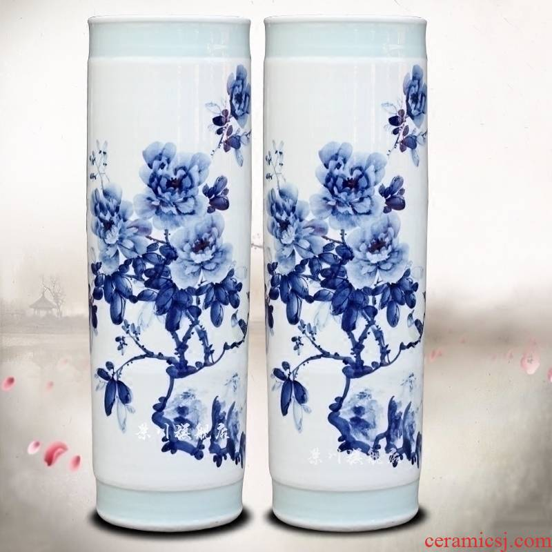 Jingdezhen ceramic quiver blooming flowers sitting room of large vase household flower arranging furnishing articles hotel opening gifts