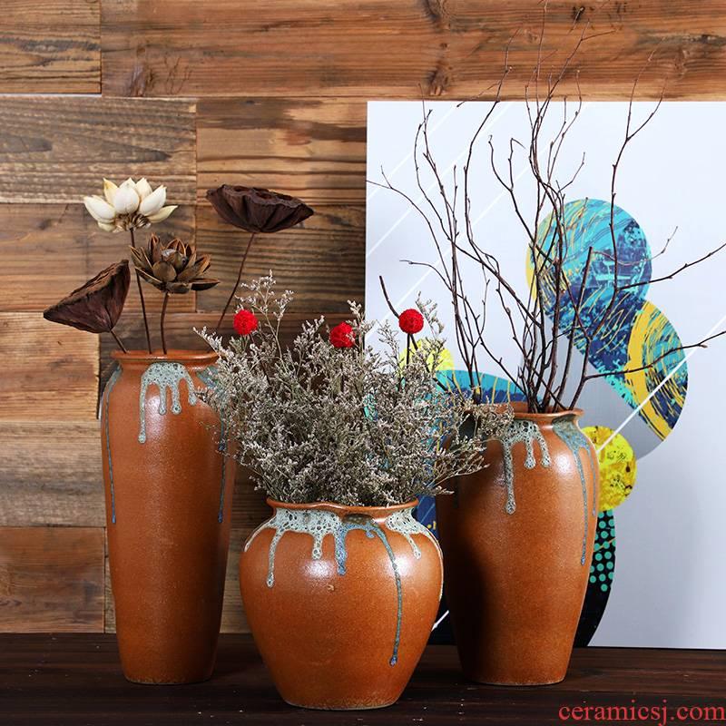 Jingdezhen ceramics vase creative flower arranging flowers hydroponics container flowerpot desktop decorative dried flowers flower arrangement furnishing articles