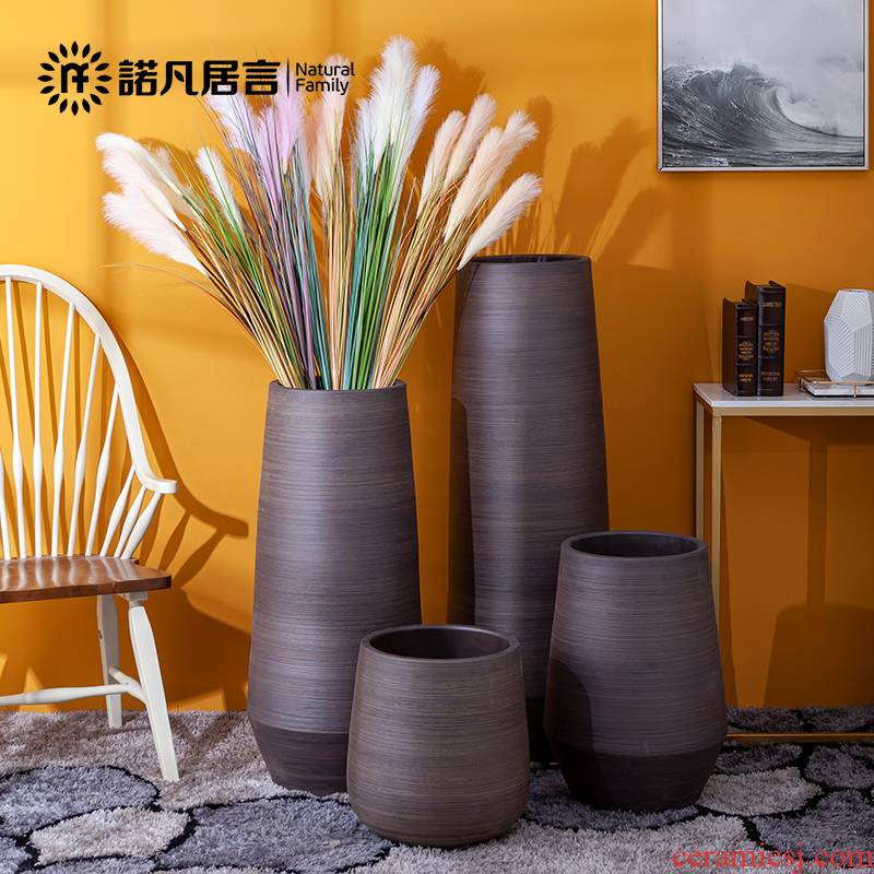 Ceramic vase landing Nordic I and contracted sitting room porch, dried flowers, flower arrangement furnishing articles creative artistic bands