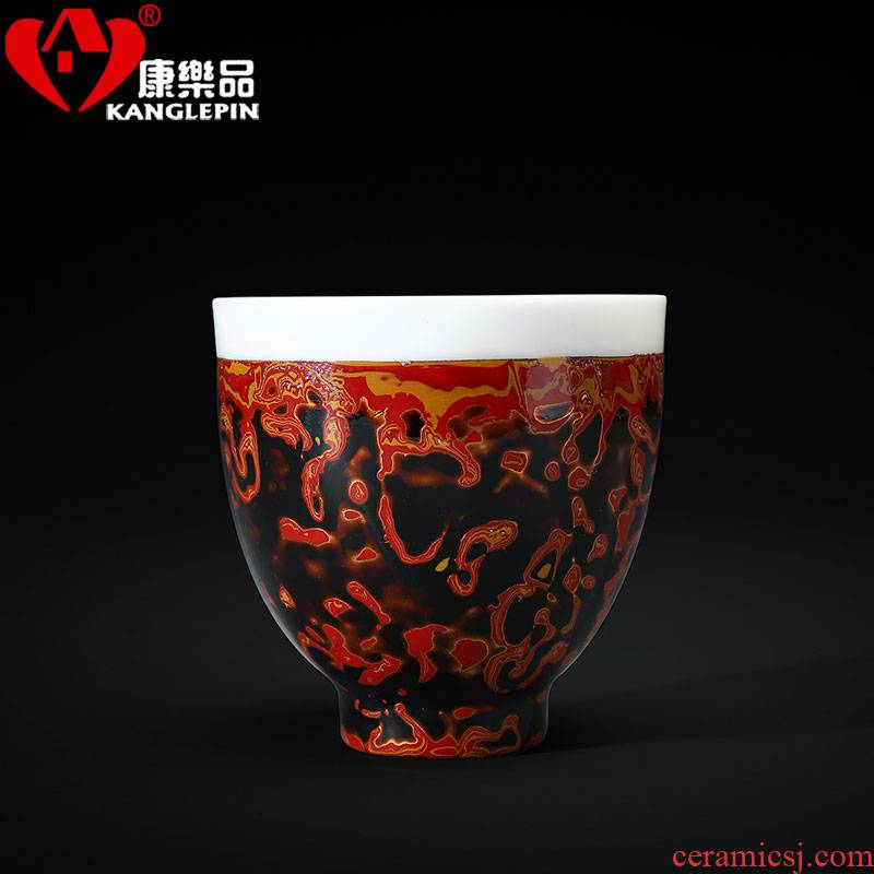 Lacquer tea pure manual recreation natural Chinese Lacquer suet jade white porcelain cups ceramic treat cup restoring ancient ways
